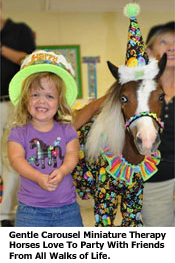 you girl with miniature paint horse