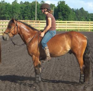 Women riding bareback