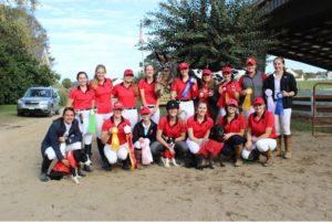Intercollegiate Dressage Association team members