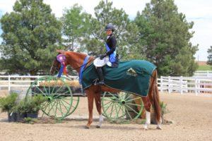 Woman on sorrel horse