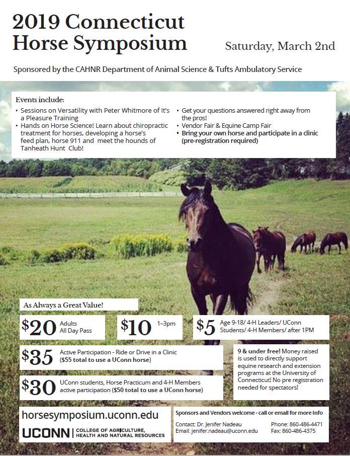 2019 Connecticut Horse Symposium